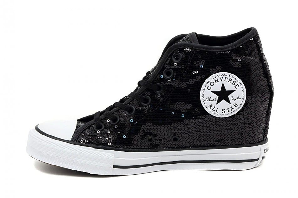 Converse : Chuck Taylor lux mid sequins – Black | o zone shop