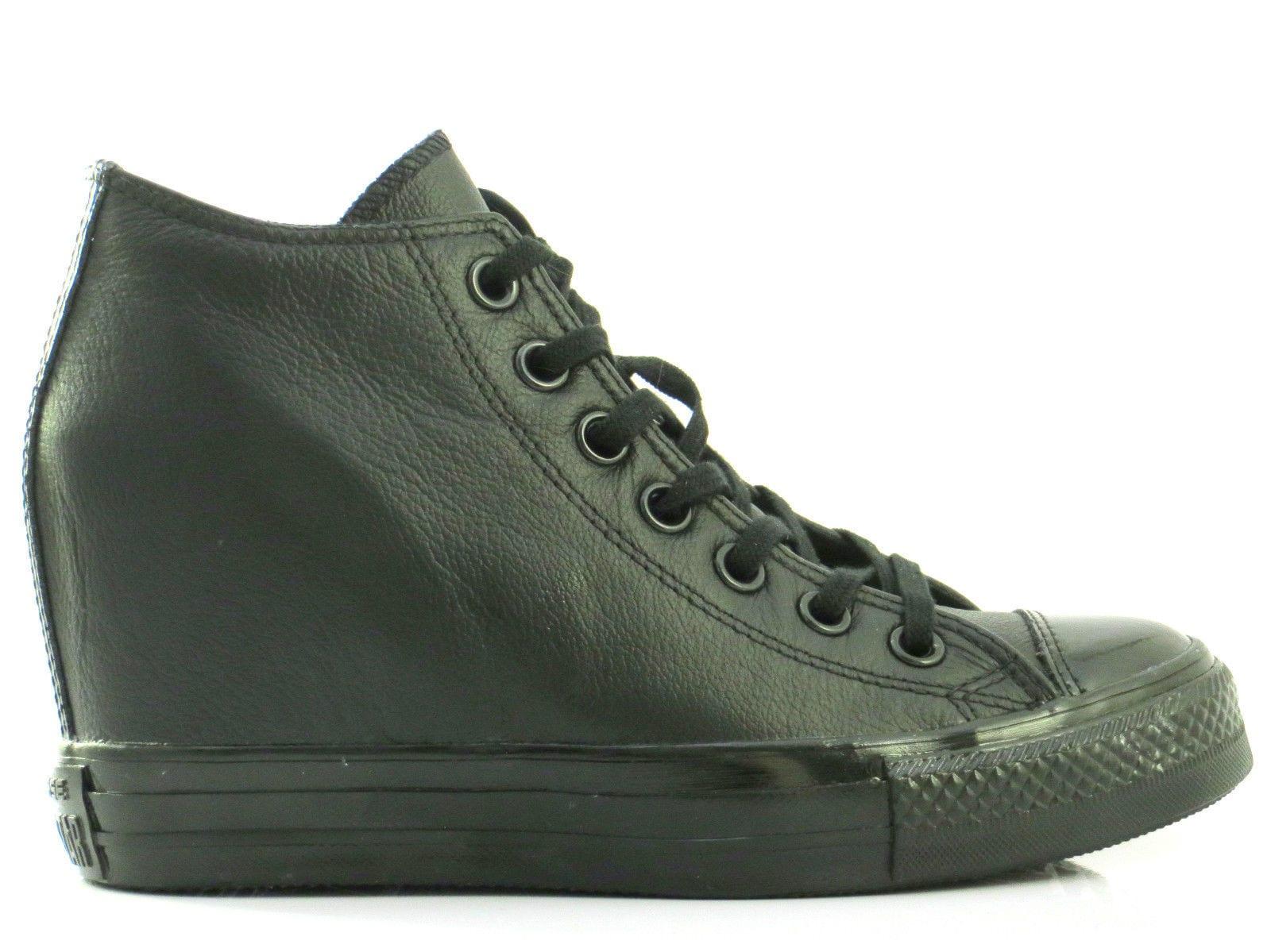 Converse : Chuck Taylor lux mid leather - Black/black