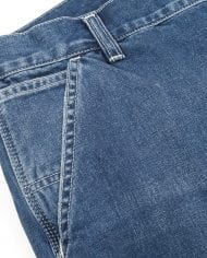 1 ruck single knee pant – blue denim – dark true stone