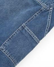 3 ruck single knee pant – blue denim – dark true stone