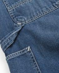 4 ruck single knee pant – blue denim – dark true stone